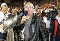 Gene Deckerhoff at the Bucs Super Bowl XXXVII victory